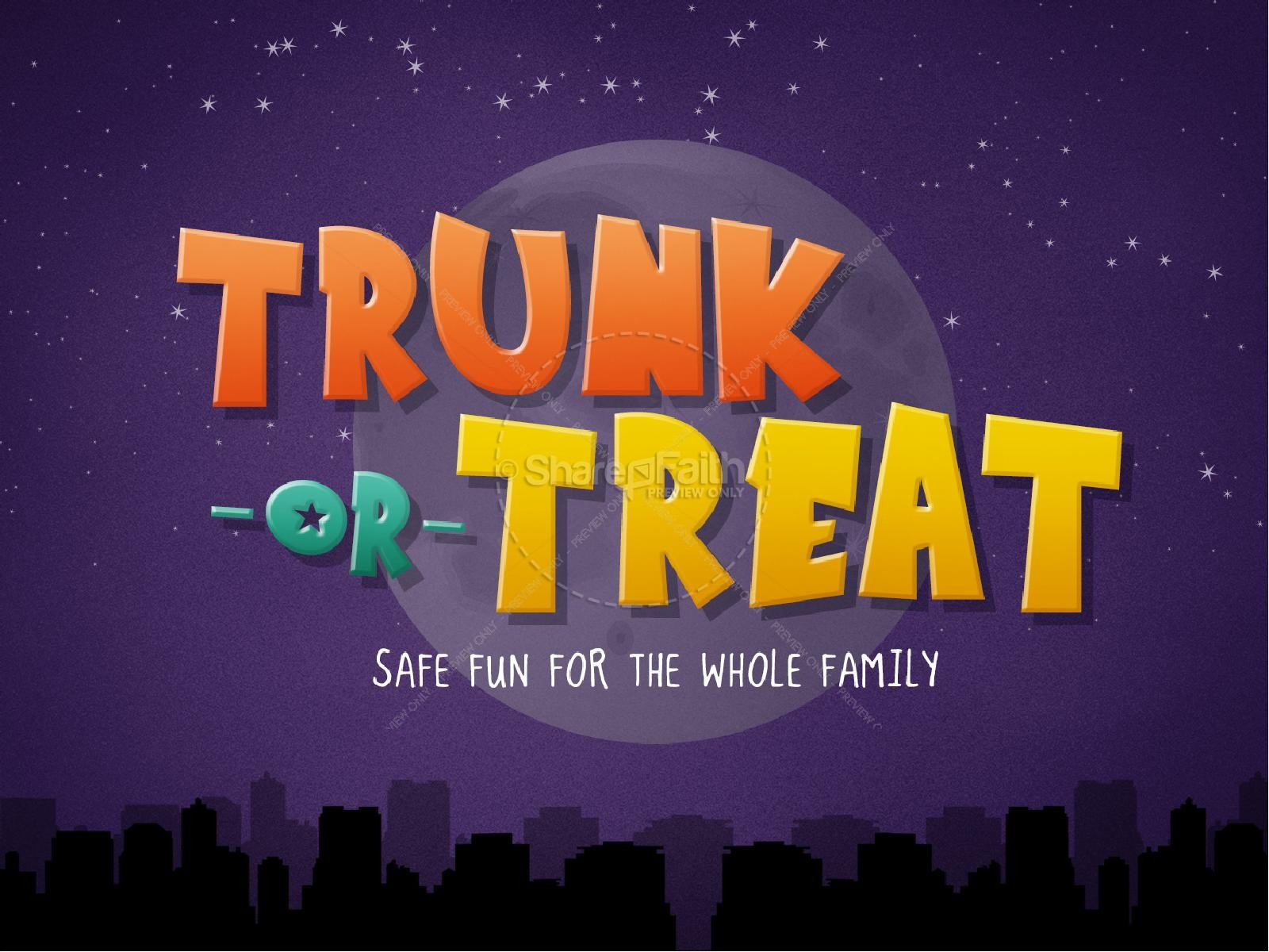 Harvest Moon clipart trunk or treat Or Church PowerPoint or PowerPoints
