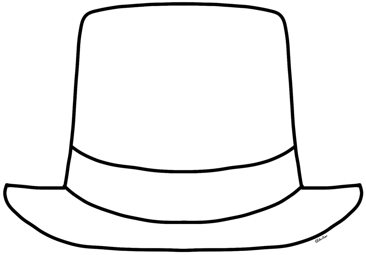 Monochrome clipart hat Clipart — of Bw Clip