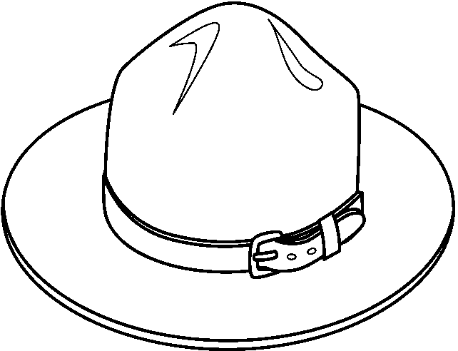 Black & White clipart hat Clip Hat and white Hat