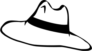 Black & White clipart hat Black black clipartfest white Hat