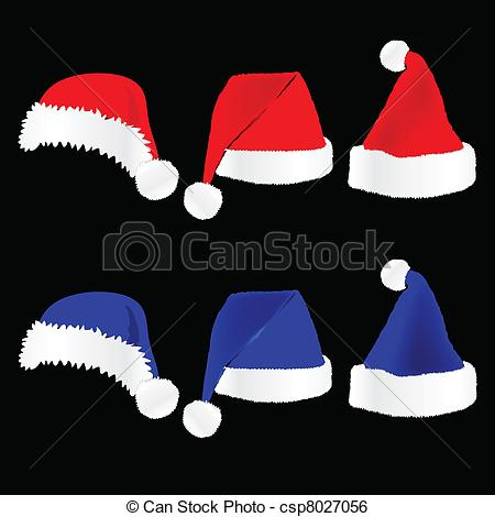 Hat clipart blue christmas Hat black and on christmas