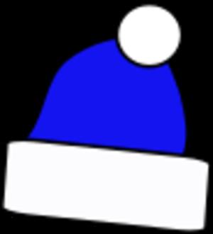 Hat clipart blue christmas Christmas Clip Simple Art Clip