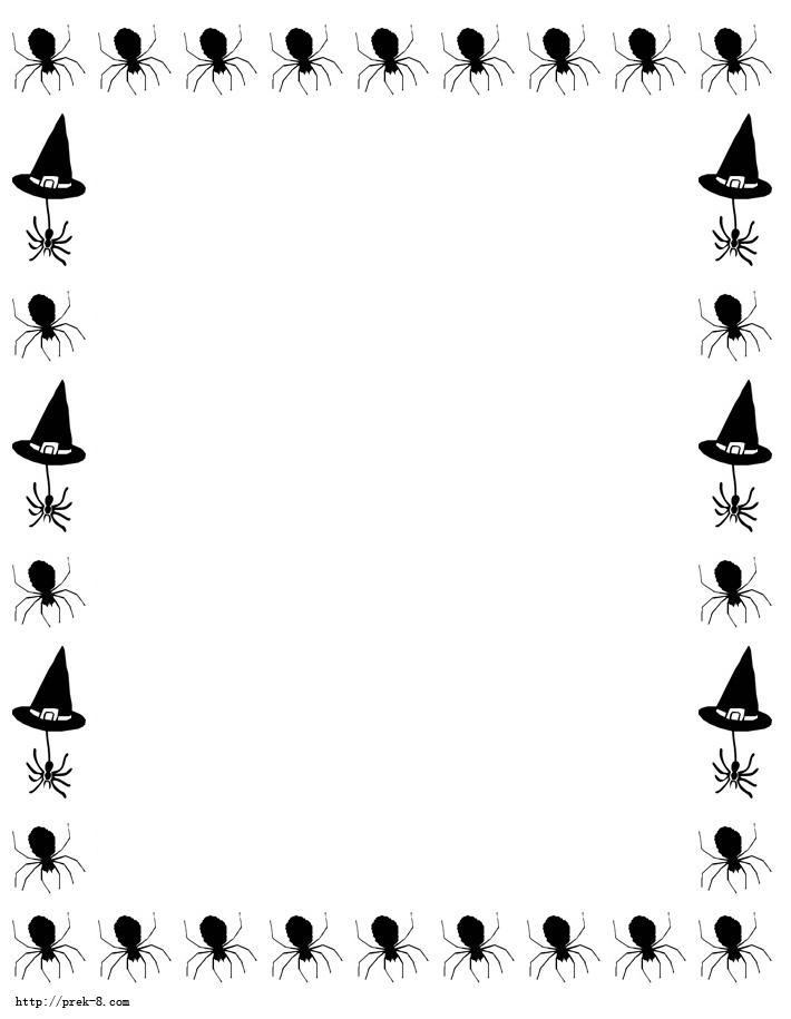 Witch clipart border  halloween jpg jpg halloweenBorderpaper4