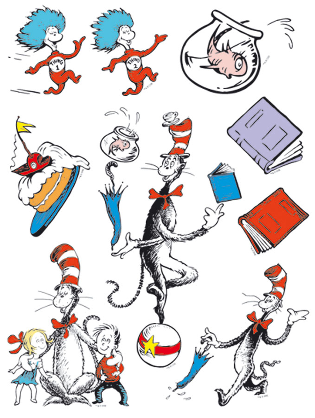Book clipart the cat in hat Download  Cat Art ThePartyWorks