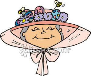 Straw Hat clipart bonnet Collection easter Wearing Woman Easter