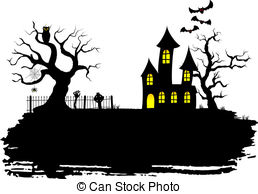 Spooky clipart haunted mansion   Haunted house house