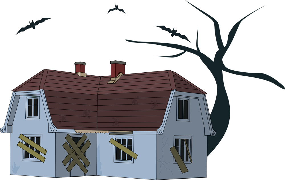 Haunted clipart House & Haunted Free to