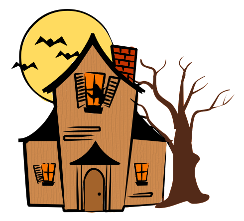 Haunted clipart Color Download Art House Clip
