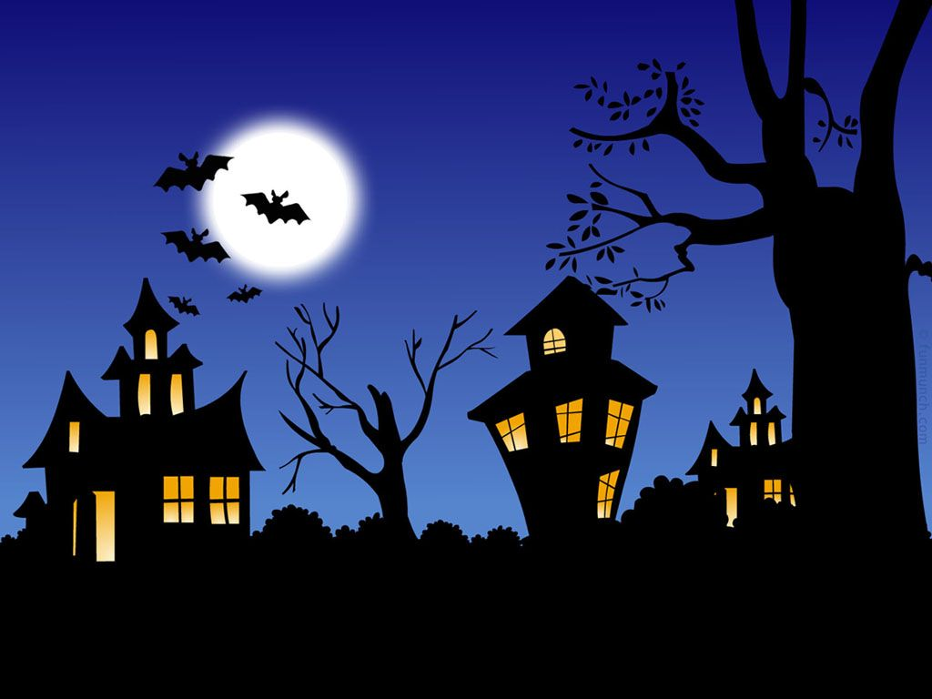 Haunted clipart background Haunted House Halloween Haunted House