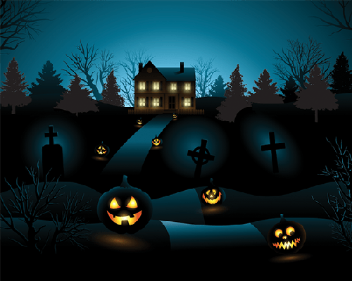 Haunted clipart background Clipart Halloween Background  Haunted