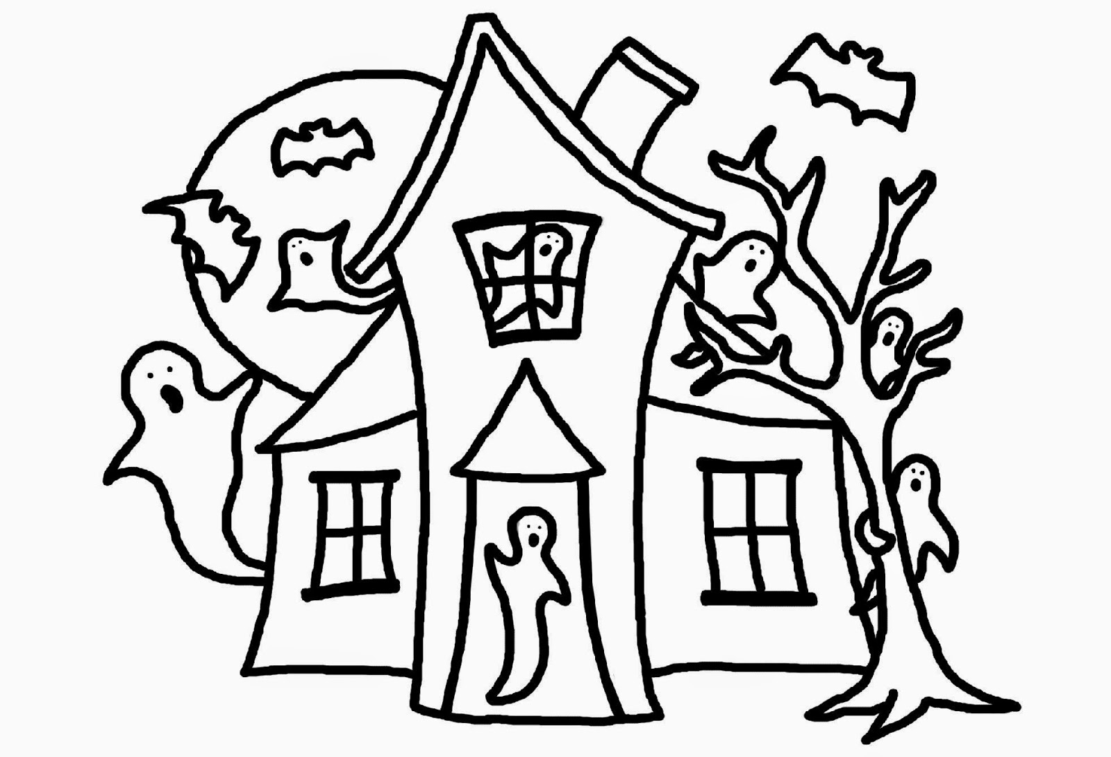 Haunted clipart black and white House Outline House Outline The
