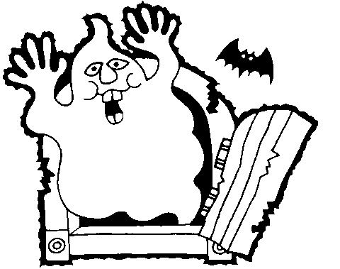 Spooky clipart black and white Art and Ghost Halloween Free