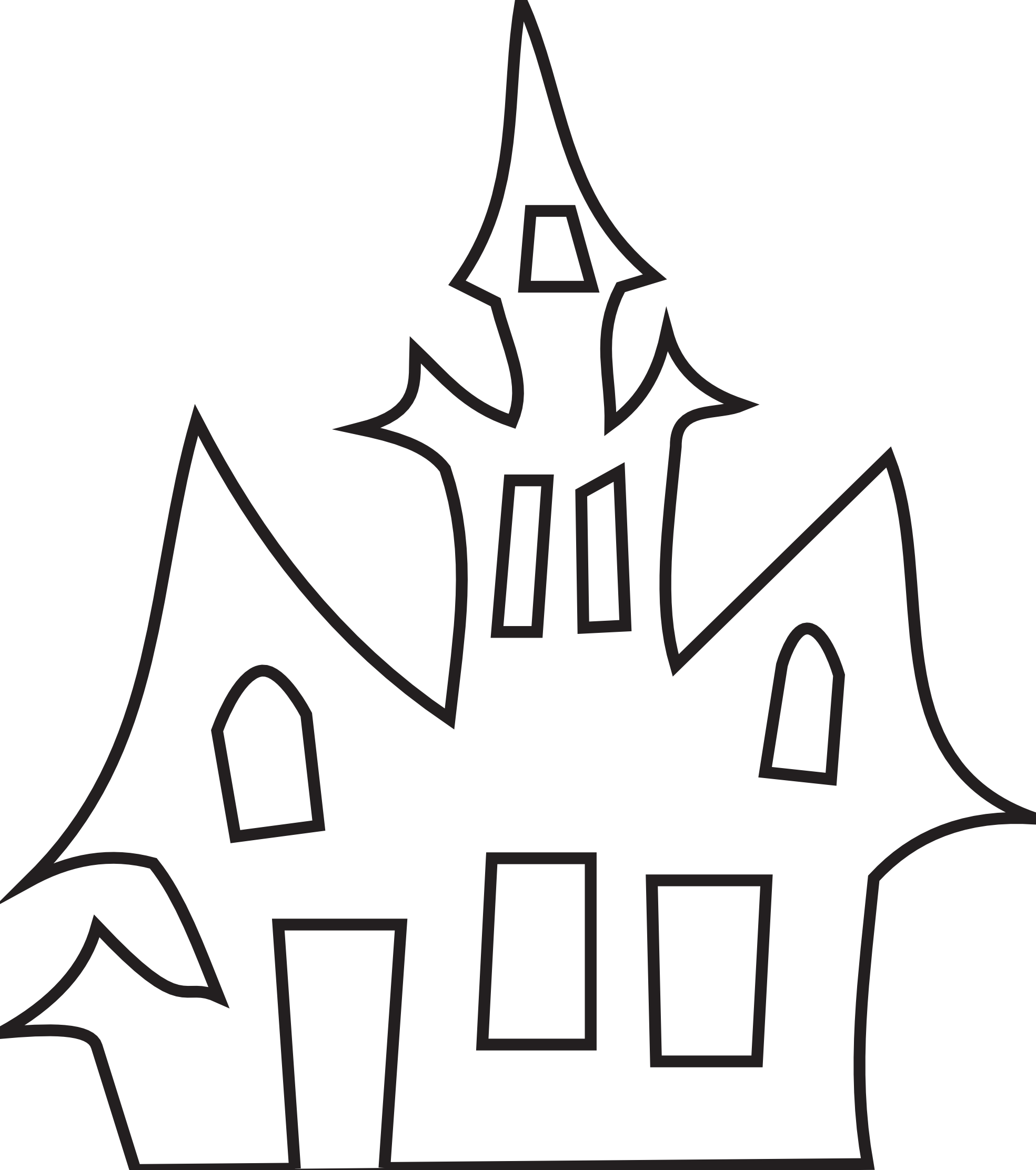 Haunted clipart black and white House Free Clip Clipart 28