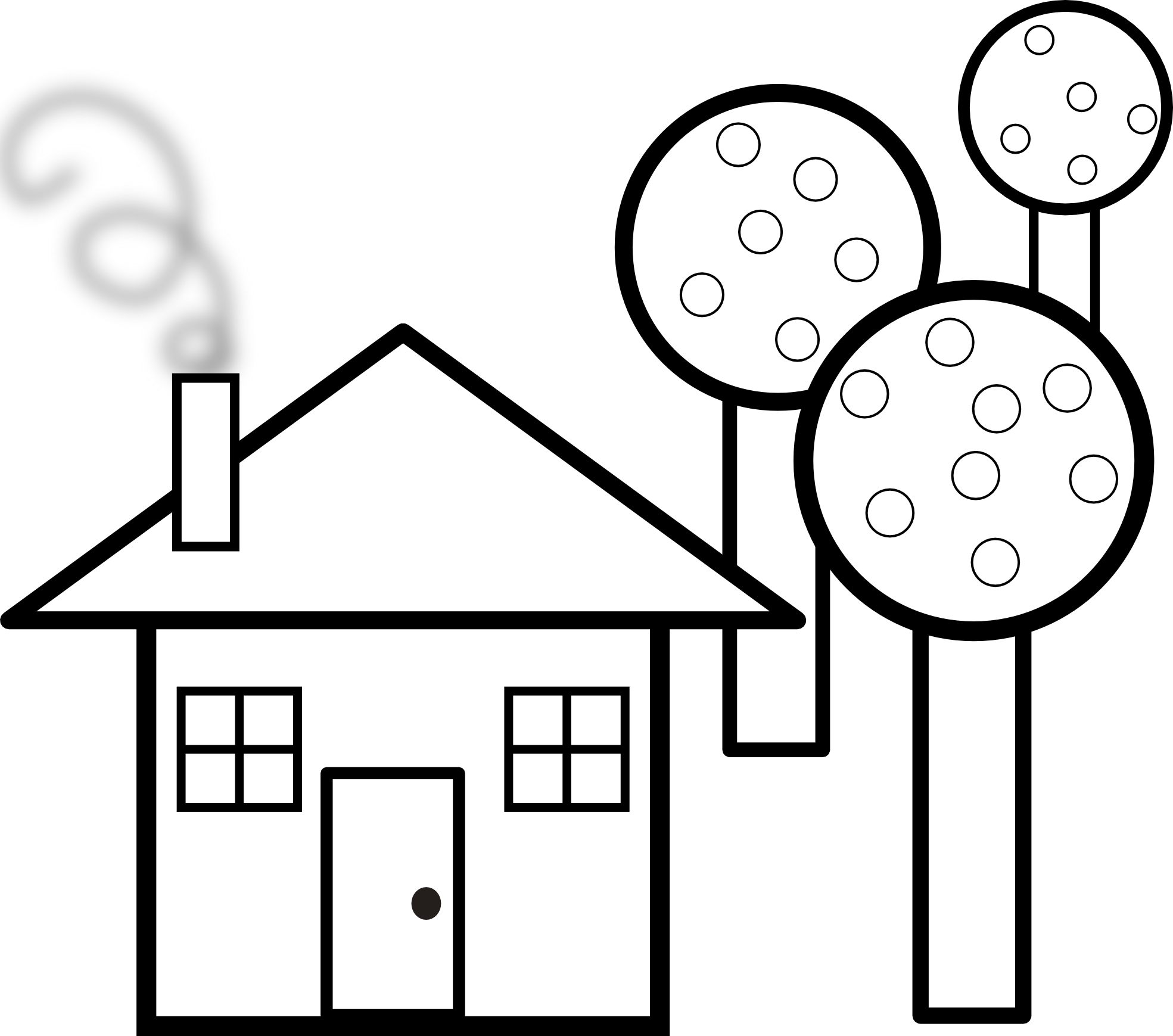 Haunted clipart black and white Haunted House Black And Clipart