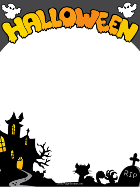 Haunted clipart border Printable tombstones free black This