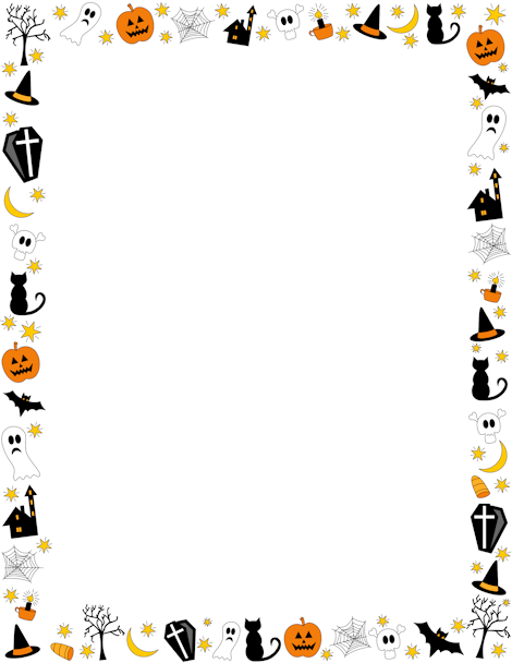 Haunted clipart border O and jack  featuring