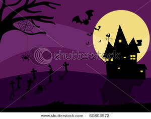 Haunted clipart cemetery Cemetery A a House House