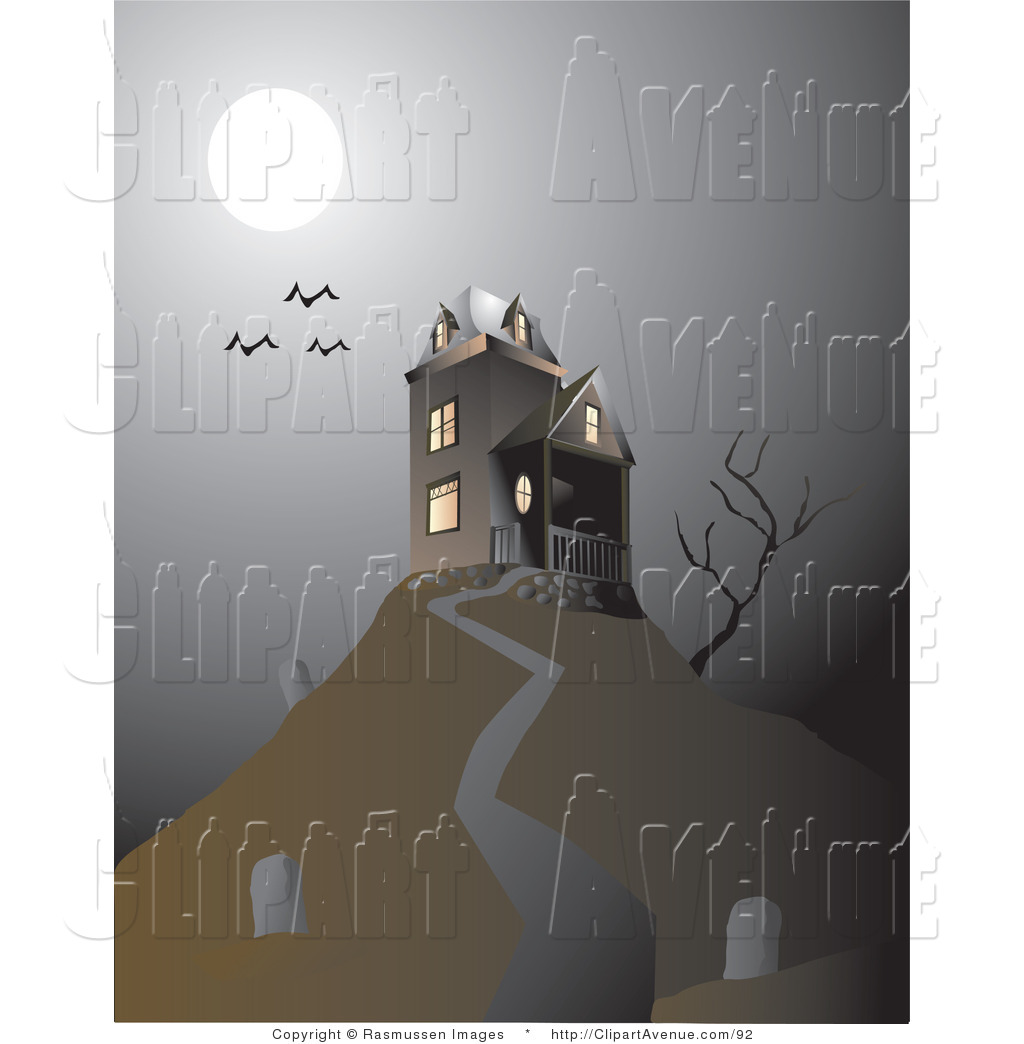 Haunted clipart cemetery Illustrations Royalty Free Avenue Designs