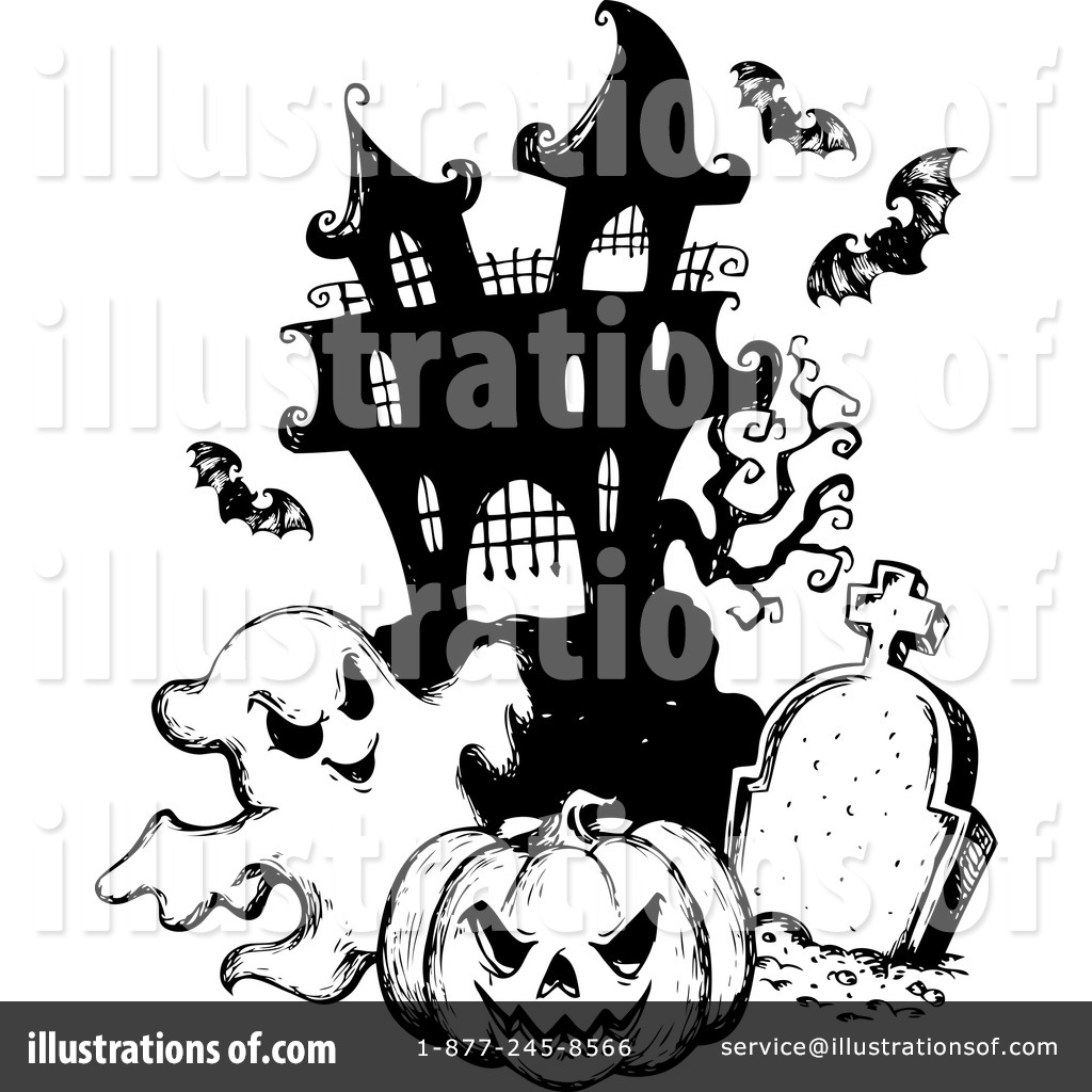 Haunted clipart cemetery #1124535 Royalty visekart Clipart Illustration