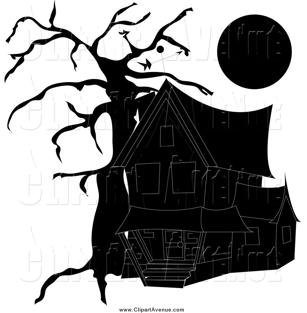 Haunted clipart creepy house Designs a Full Free House