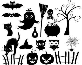 Haunted clipart cute ghost Halloween House Haunted Cute cat