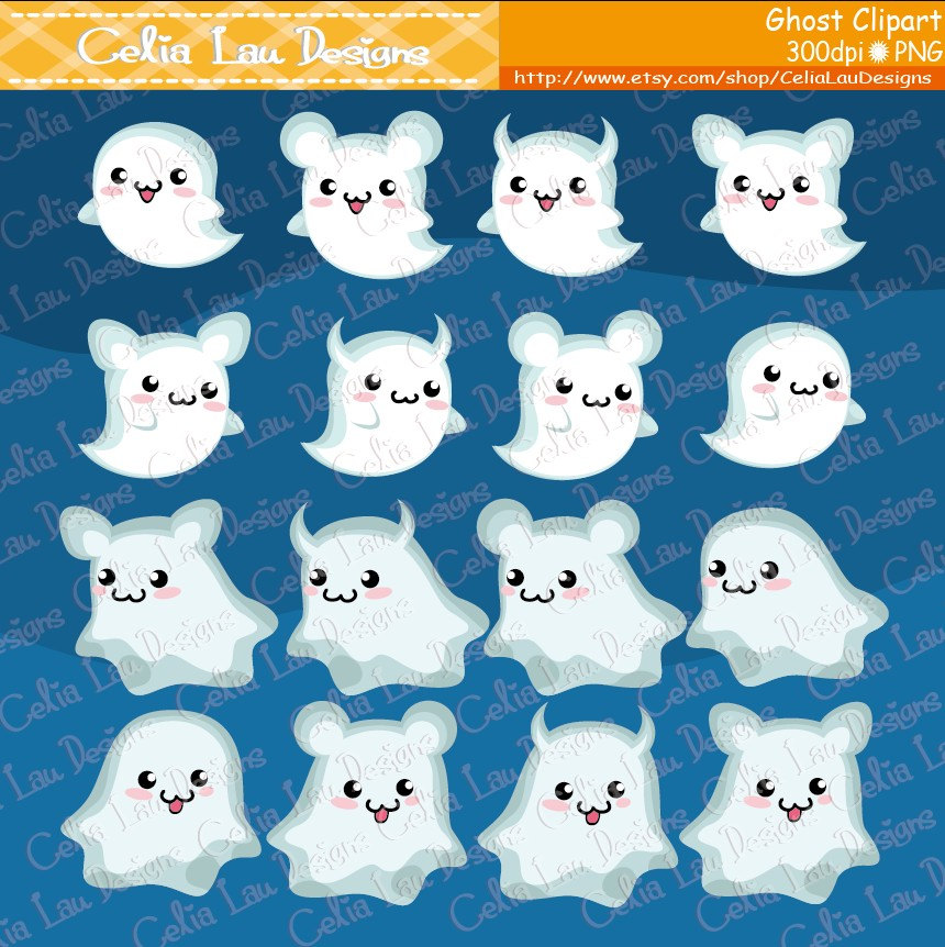 Haunted clipart cute ghost Clipart Clipart Ghost Halloween Graphics
