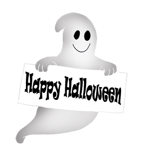 Haunted clipart cute ghost Art sign witch Happy Happy