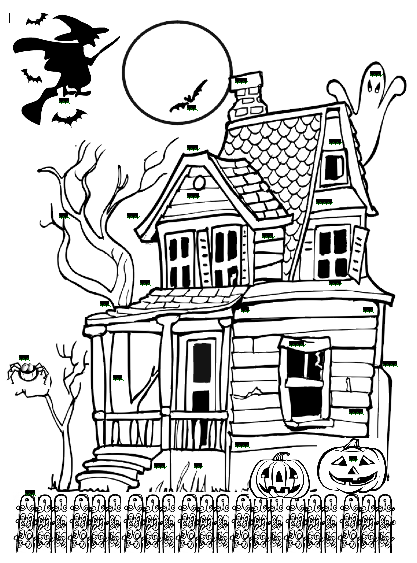 Haunted clipart door And house door with black