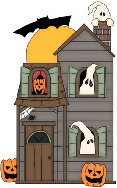 Haunted clipart door Flap minus and Art house