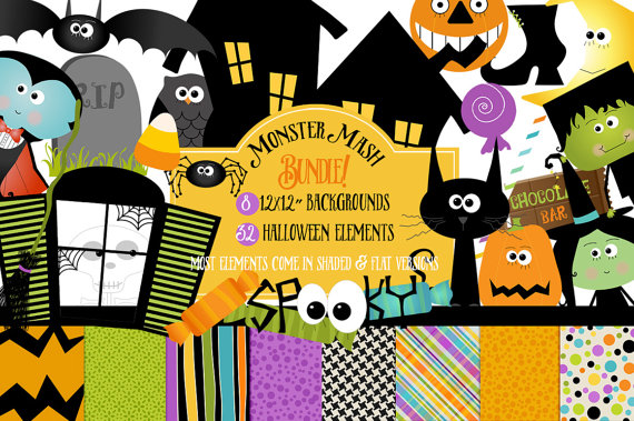 Haunted clipart dracula Halloween Papers Witch Clip Witch