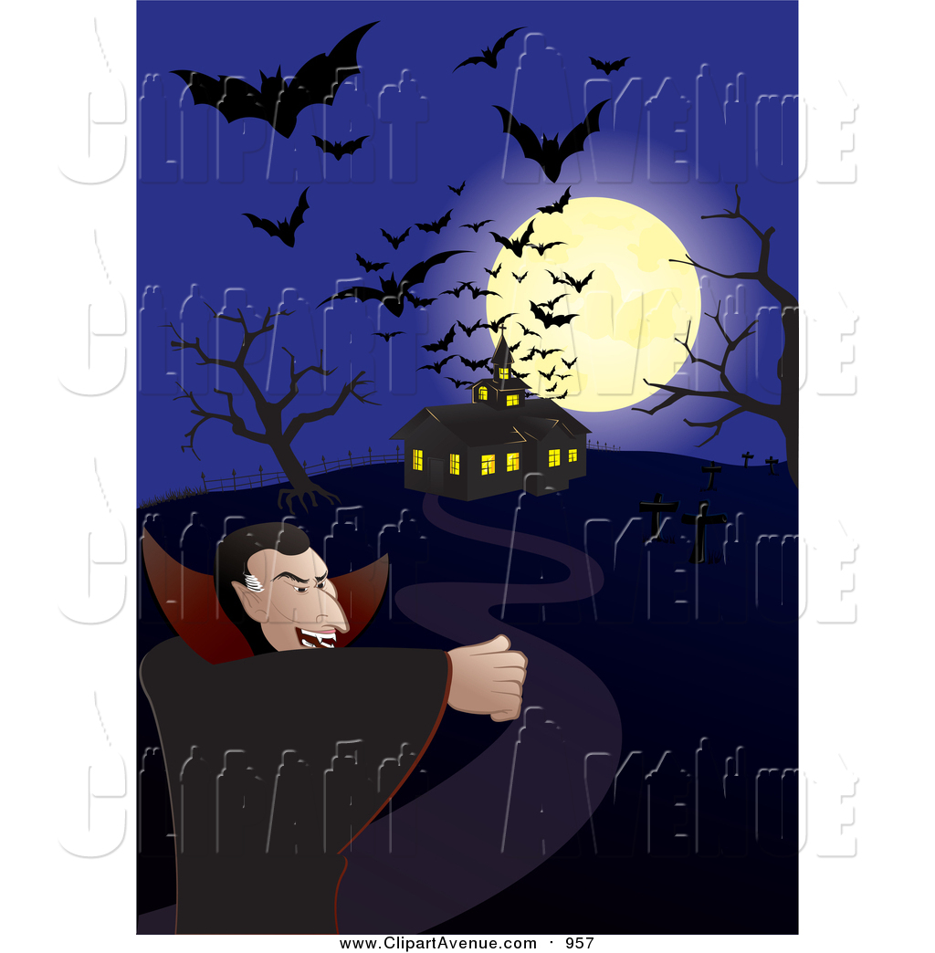 Haunted clipart dracula Flying Moon over Clipart and