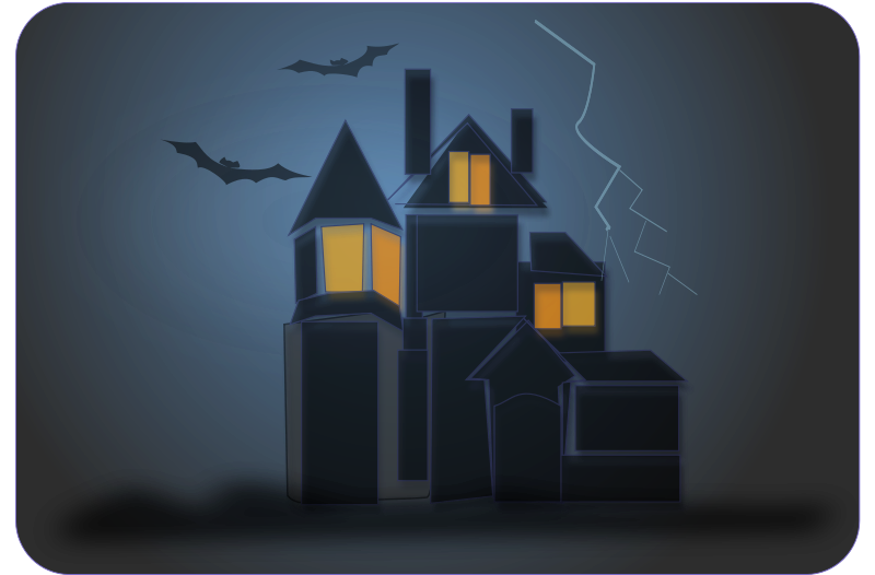 Ghostly clipart eerie House Graphics Halloween haunted Clipart