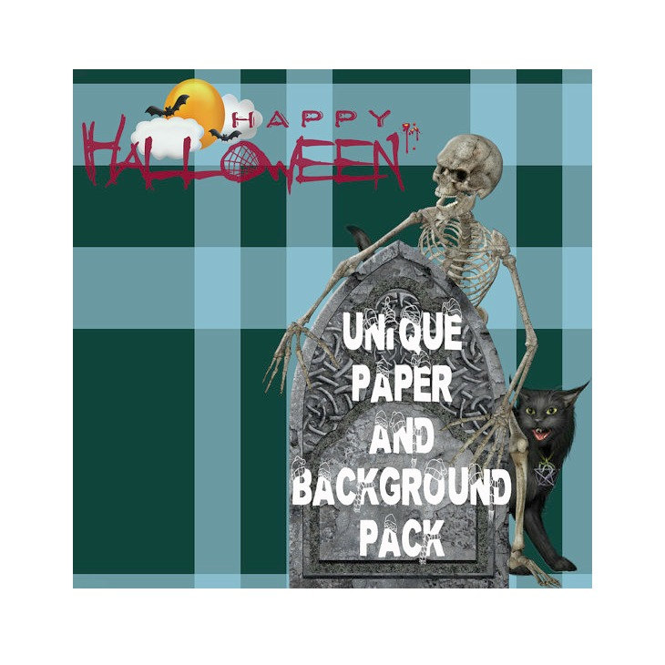 Haunted clipart halloween full moon X Digital Backgrounds Zombie Papers