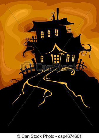 Haunted clipart eerie Csp4674601 Haunted Design Haunted