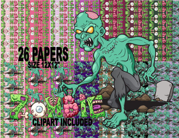 Haunted clipart eerie Papers Zombie Zombie Clipart Apocalypse