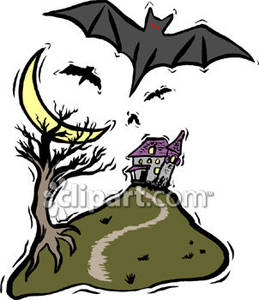 Haunted clipart eerie Flying Royalty Haunted Clipart a