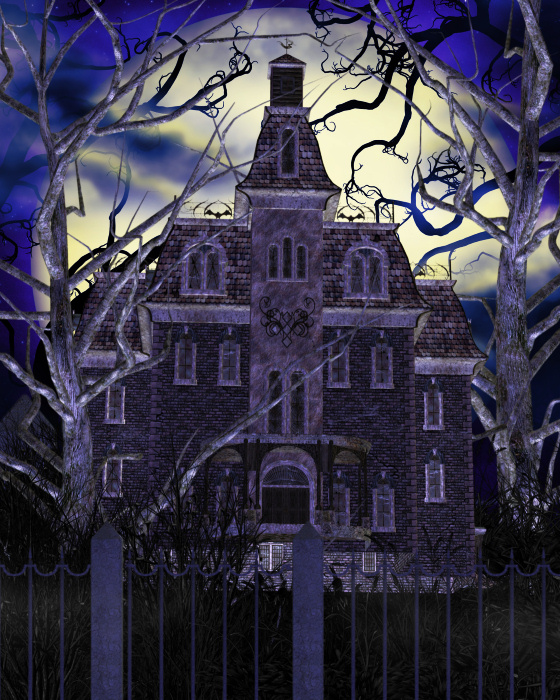 Haunted clipart eerie House images Tubes PNG 18