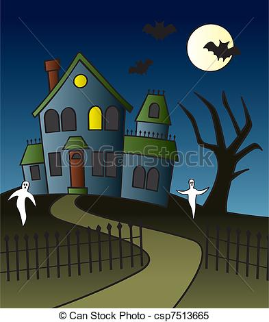 Haunted clipart fence #7