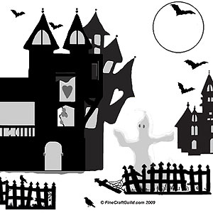 Haunted clipart fence #5