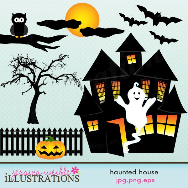 Haunted clipart fence #6