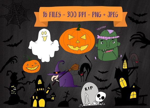 Haunted clipart frankenstein Witch House House Pumpkin Clipart