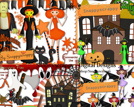 Haunted clipart frankenstein Halloween Kit Kit Kit Scrap