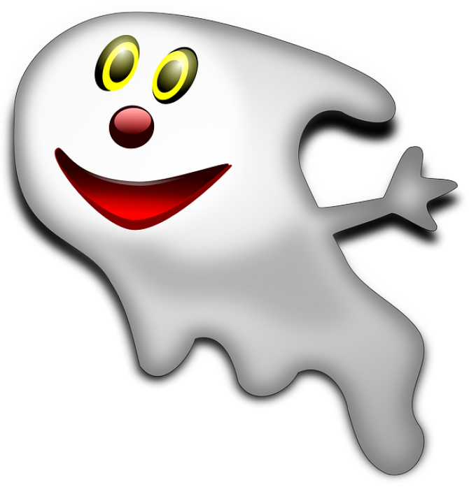Ghostly clipart not #3