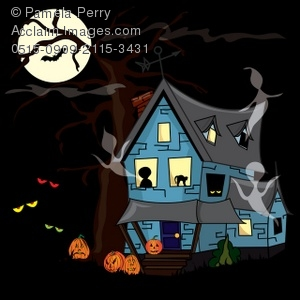 Old House clipart ghost house A Haunted With House of
