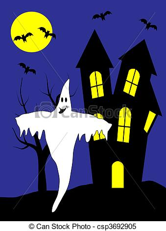 Ghostly clipart haunted A Clipart with of
