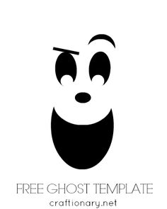 Haunted clipart ghost face Halloween Search template Face halloween