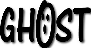 Haunted clipart ghost face Word Banner Graphics word Lettering