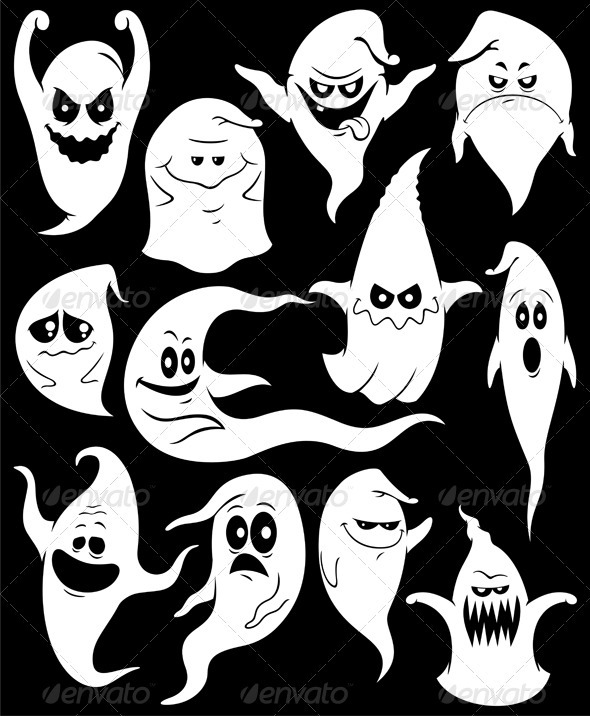 Haunted clipart ghost face Ghosts