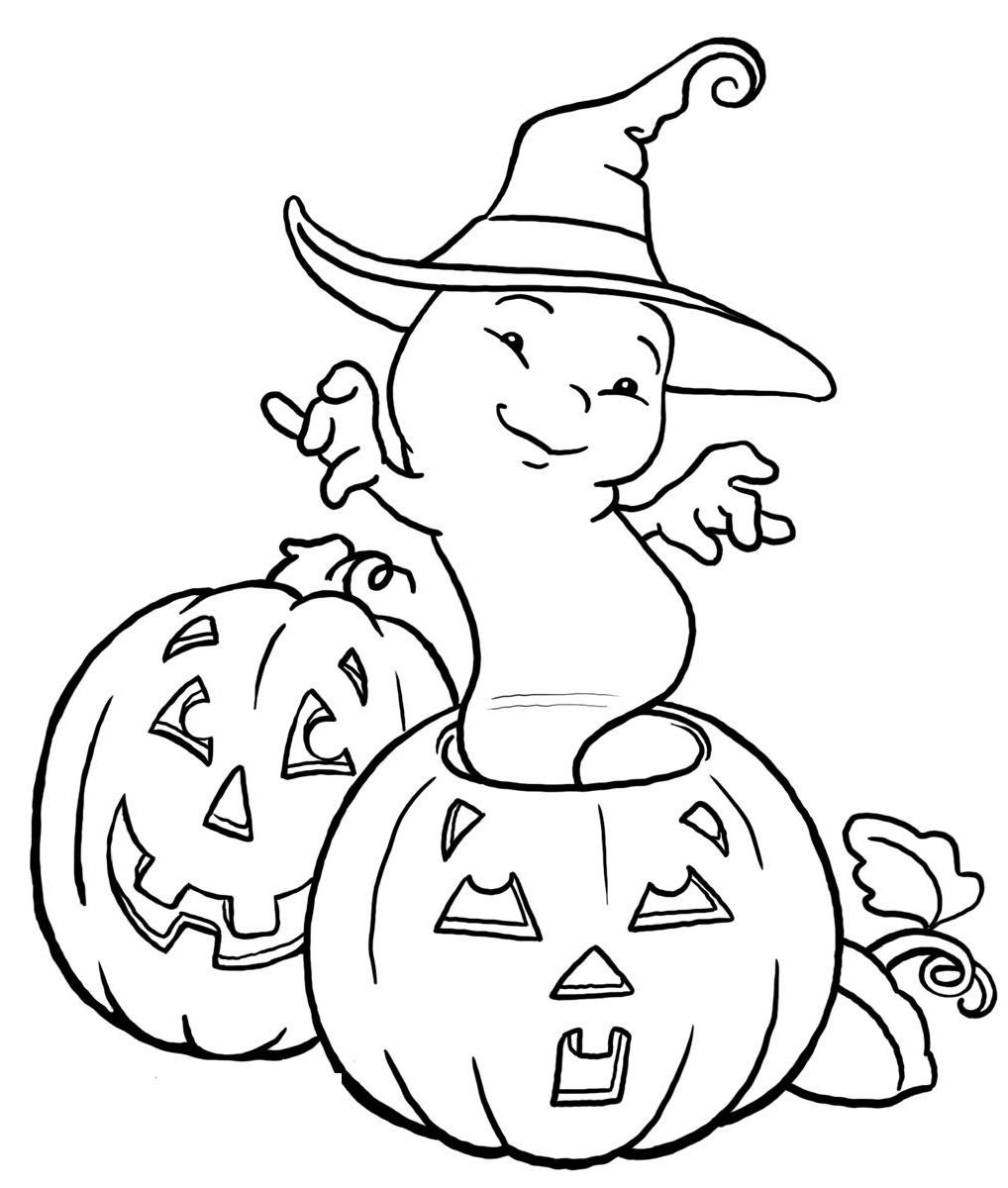 Drawn ghostly halloween coloring And Pages: coloring Halloween pages