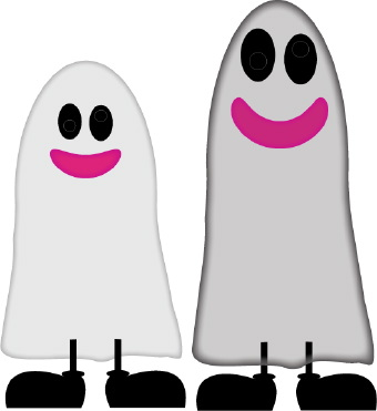 Haunted clipart halloween scene  art Ghosts clip